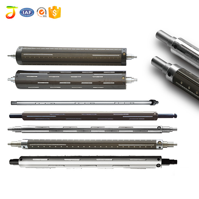 Nickel Coating lath type pneumatic inflatable air shaft for wrapping machine