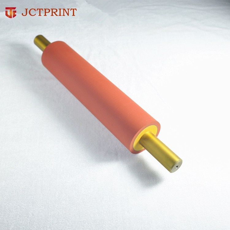 Silicone rubber roller for food industry