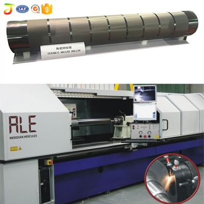 Offset ceramic anilox roller for printing machine